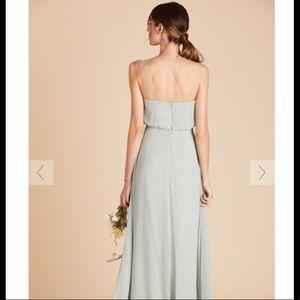 Birds Grey Bridesmaid Dress-Sage